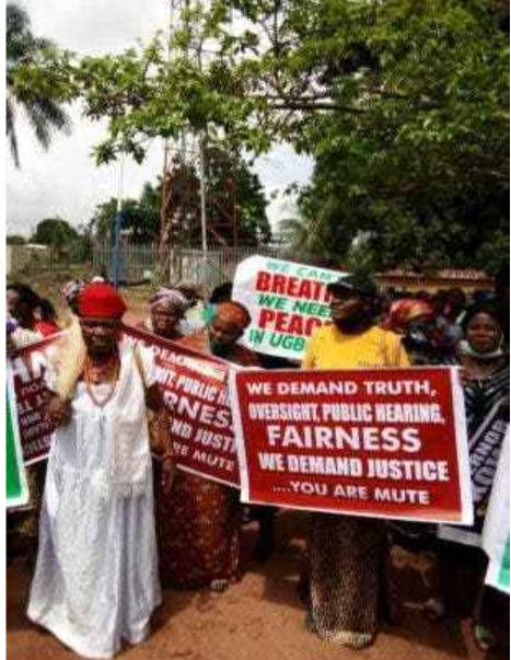 Delta State women protest against Ned Nwoko and wife