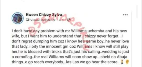Williams Uchemba ex girlfriend