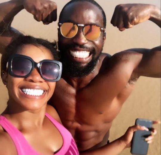 Shola ogudu shows off her fiance