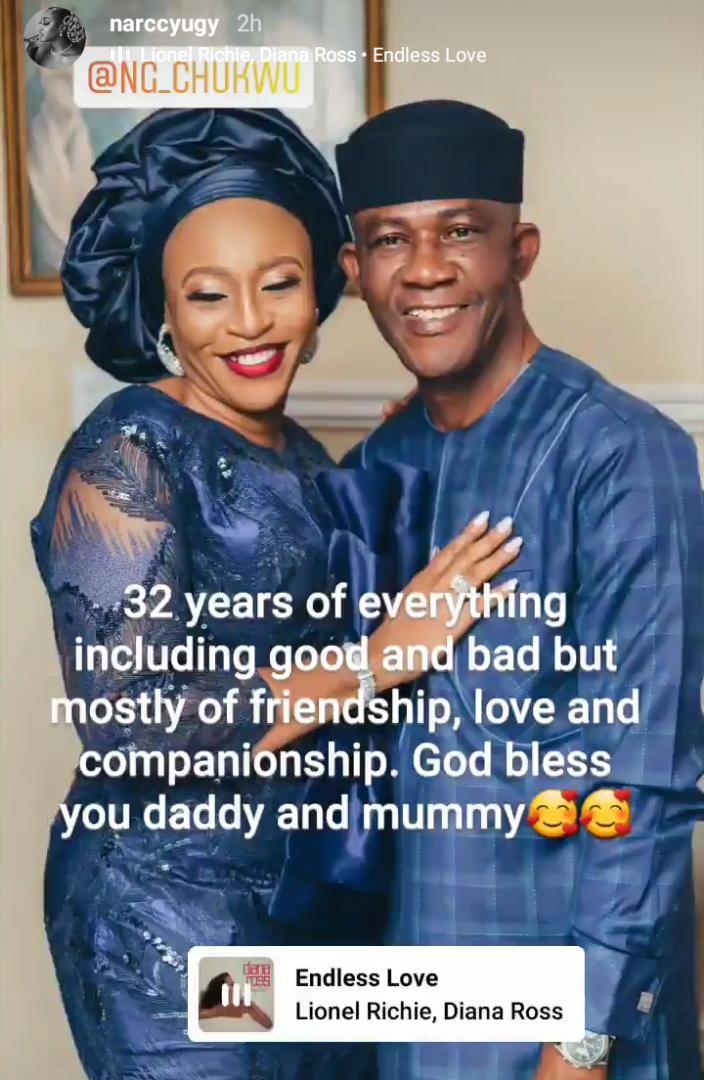 Ozo parents celebrates 32nd wedding anniversary